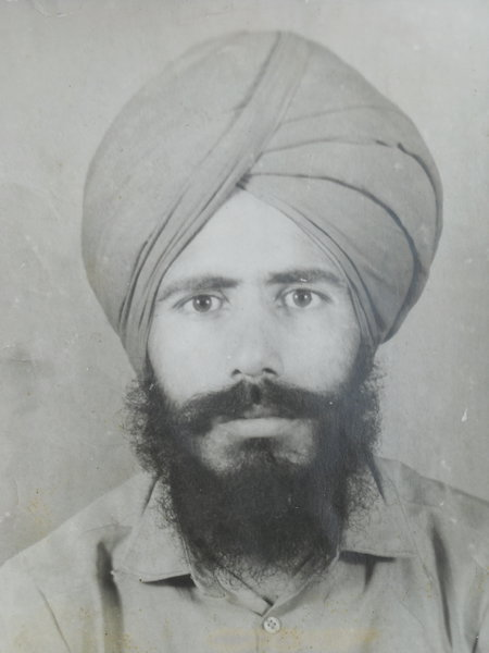 Photo of Dilbagh Singh, victim of extrajudicial execution on January 25, 1990, in Patti, by Punjab Police