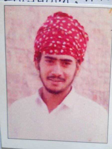 Photo of Rajbir Singh, victim of extrajudicial execution on November 15, 1992, in Tarn Taran, by Punjab Police