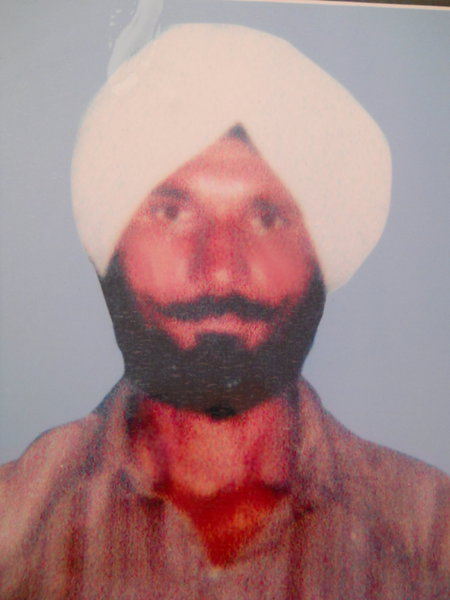 Photo of Satinder Singh, victim of extrajudicial execution on March 20, 1991, in Valtoha, by Punjab Police