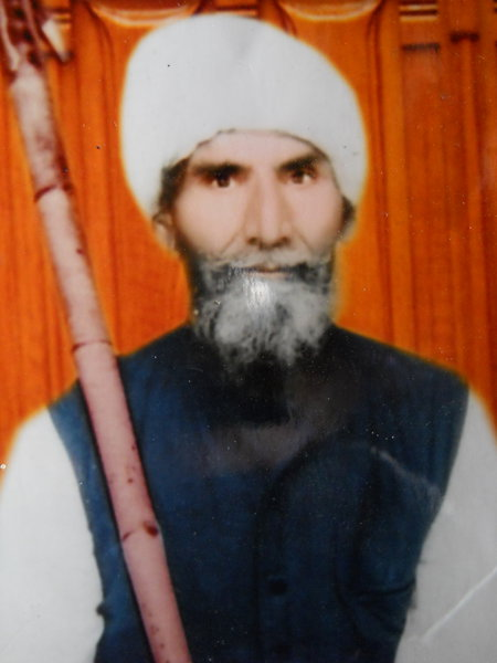 Photo of Shamir Singh, victim of extrajudicial execution on October 7, 1992, in Algon Kothi, Gharyala, Patti, by Punjab Police