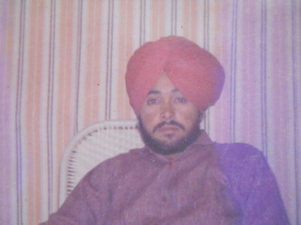 Photo of Pargat Singh, victim of extrajudicial execution between April 18, 1993 and April 19,  1993, in Kairon, Patti, by Punjab Police