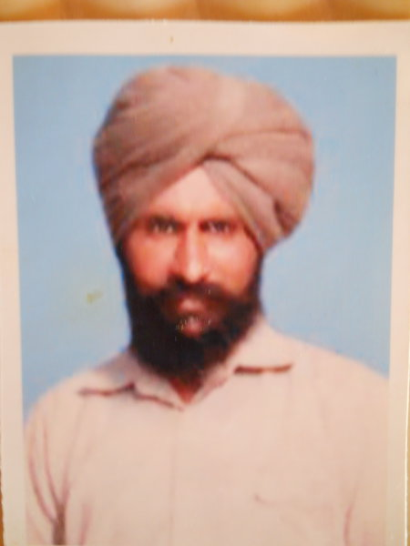 Photo of Bawa Singh, victim of extrajudicial execution on March 26, 1991, in Amritsar, by Punjab Police