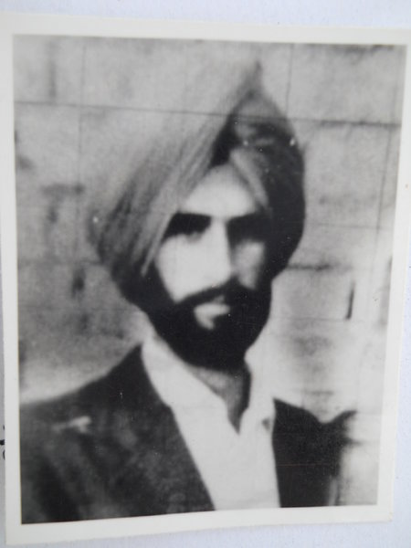 Photo of Shamsher Singh, victim of extrajudicial execution between May 18, 1987 and May 20,  1987, in Jhabal Kalan,  by Punjab Police; Central Reserve Police Force, in Tarn Taran, by Punjab Police