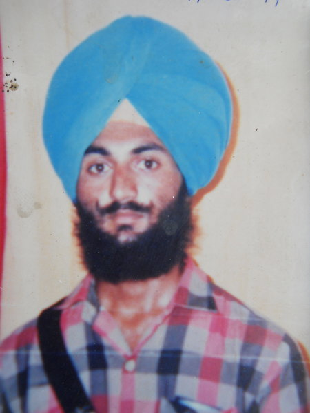 Photo of Sukhbir Singh, victim of extrajudicial execution on August 06, 1991, in Gharinda, by Punjab Police