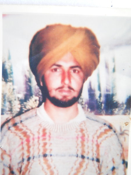 Photo of Sukhbir Singh, victim of extrajudicial execution on May 3, 1991, in Dharamkot, by Punjab Police