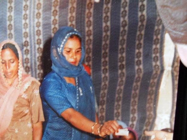 Photo of Gurmeet Kaur, victim of extrajudicial execution between September 19, 1992 and October 5,  1992, in Bhikhiwind, by Punjab Police