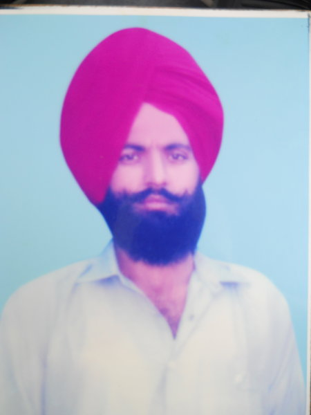 Photo of Lakhwinder Singh, victim of extrajudicial execution between January 1, 1990 and December 31,  1990, in Sarai Amanat Khan, by Punjab Police