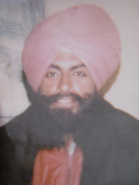 Photo of Ajinderpal Singh, victim of extrajudicial execution between March 3, 1991 and March 31,  1991, in Amritsar, by Punjab Police