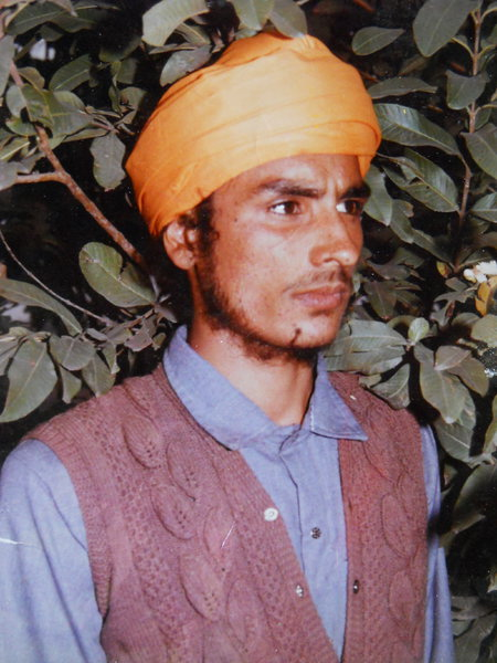 Photo of Dawinder Singh, victim of extrajudicial execution on February 12, 1991 by Central Reserve Police ForceCentral Reserve Police Force
