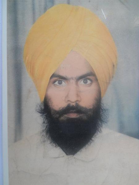 Photo of Puran Singh, victim of extrajudicial execution between November 1, 1991 and November 30,  1991, in Jhabal Kalan, by Punjab Police