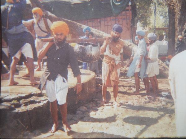 Photo of Ram Singh, victim of extrajudicial execution on April 17, 1991 by Punjab Police; Black catPunjab Police