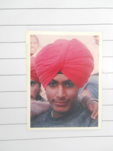 Photo of Balwinder Singh, victim of extrajudicial execution on April 10, 1992, in Tarn Taran, by Punjab Police; Border Security Force; Central Reserve Police Force; Army