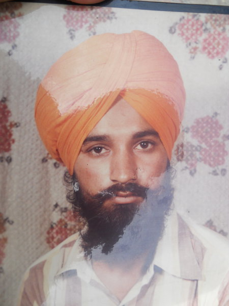 Photo of Harbhajan Singh, victim of extrajudicial execution on July 13, 1991, in Goindwal, by Central Reserve Police Force