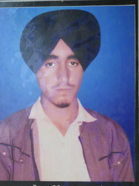 Photo of Jaimal Singh, victim of extrajudicial execution on September 03, 1993, in Bhikhiwind, by Punjab Police