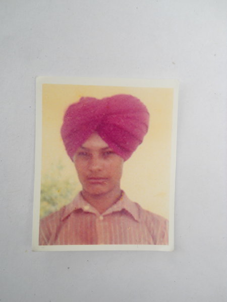 Photo of Sukhwinder Singh, victim of extrajudicial execution between December 25, 1992 and January 15,  1993, in Chogawan, by Punjab Police