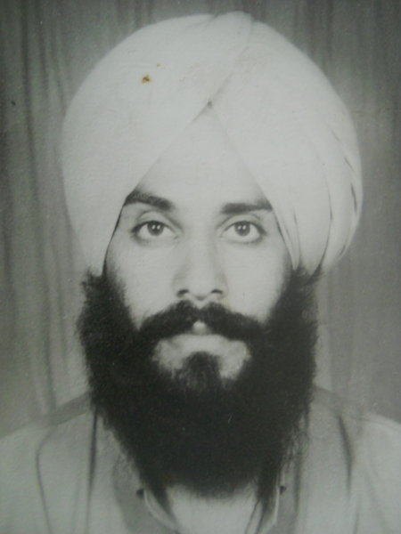 Photo of Major Singh, victim of extrajudicial execution on December 01, 1988, in Beas, by Punjab Police; Central Reserve Police Force