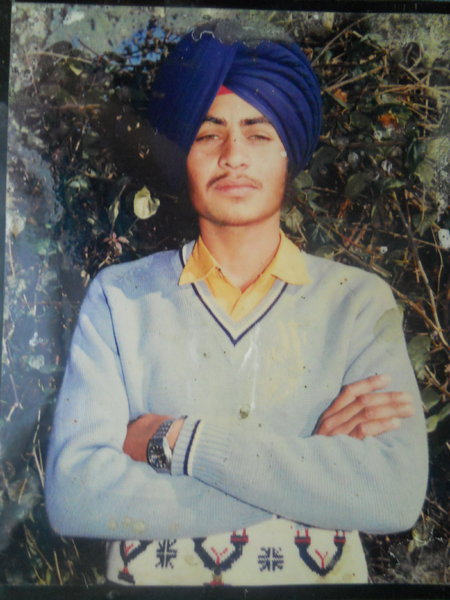 Photo of Balkar Singh, victim of extrajudicial execution on May 10, 1988, in Beas, by Punjab Police; Central Reserve Police Force