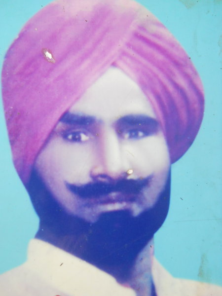 Photo of Tarsem Lal, victim of extrajudicial execution on October 30, 1992, in Ramdas, by Punjab Police