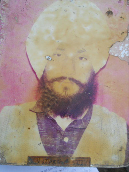 Photo of Rashpal Singh, victim of extrajudicial execution on May 22, 1991, in Raja Sansi, by Punjab Police