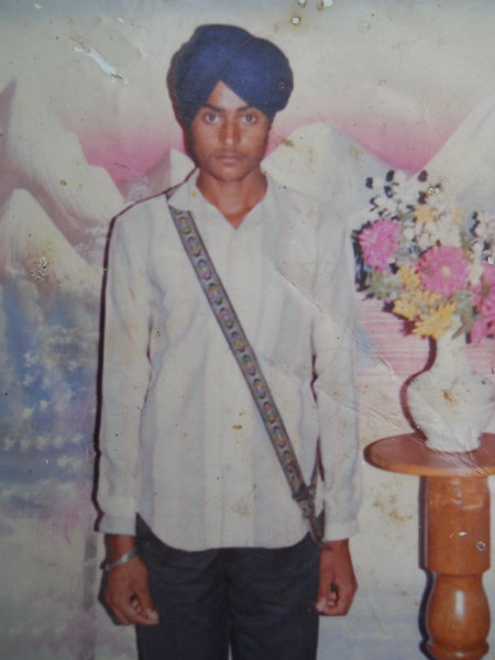 Photo of Sakatar Singh, victim of extrajudicial execution on August 23, 1992, in Raja Sansi, by Punjab Police