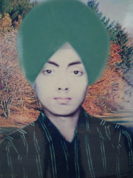 Photo of Talwinder Singh, victim of extrajudicial execution on November 24, 1990, in Amritsar, by Punjab Police