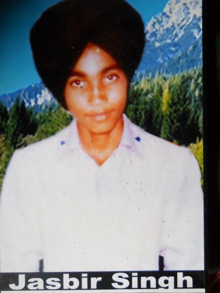 Photo of Jasbir Singh, victim of extrajudicial execution on February 22, 1989, in Mehta, by Punjab Police