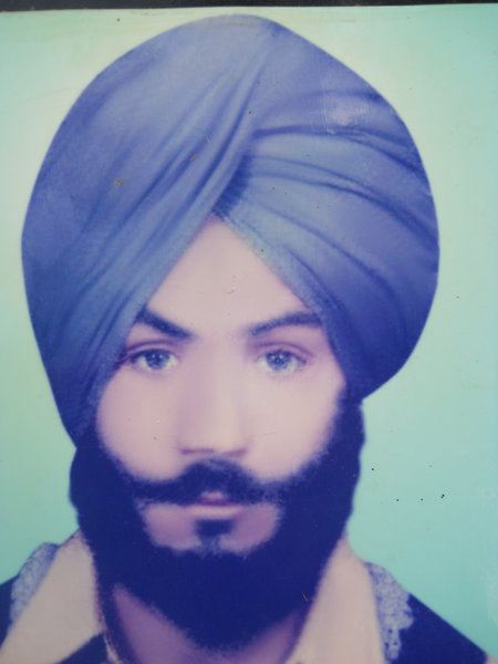 Photo of Bakshish Singh, victim of extrajudicial execution between January 1, 1989 and December 31,  1990, in Tarn Taran, by Punjab Police