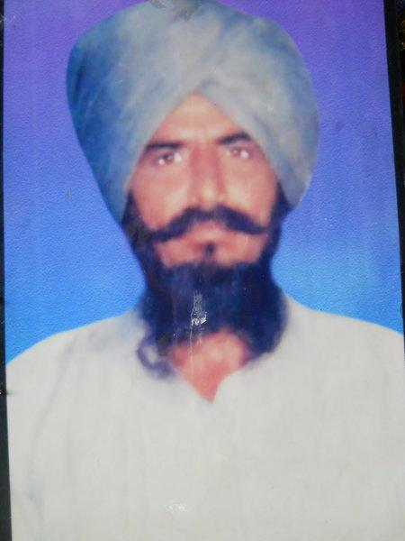 Photo of Raghbir Singh, victim of extrajudicial execution on July 03, 1991, in Kapurthala,  by Punjab Police; Central Reserve Police Force, in Kapurthala, by Punjab Police