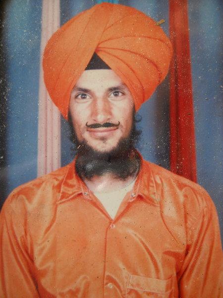 Photo of Balbir Singh, victim of extrajudicial execution on November 16, 1991, in Raja Sansi, by Punjab Police