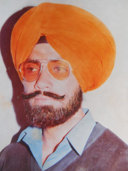 Photo of Kabal Singh, victim of extrajudicial execution between March 20, 1989 and March 30,  1989, in Kathu Nangal, by Punjab Police; Central Reserve Police Force