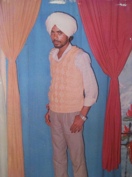 Photo of Jarnail Singh, victim of extrajudicial execution on July 22, 1993, in Tarn Taran, by Punjab Police