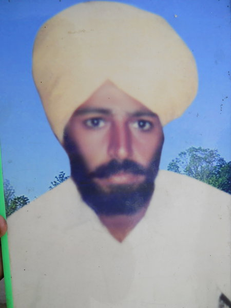Photo of Jaswant Singh, victim of extrajudicial execution between January 28, 1993 and January 31,  1993, in Khalra, by Punjab Police
