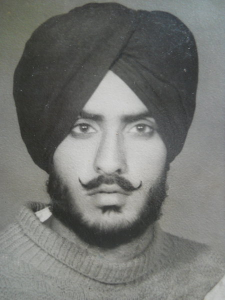 Photo of Amrik Singh, victim of extrajudicial execution on July 31, 1993, in Lopoke, by Punjab Police