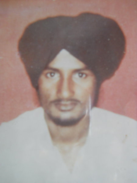 Photo of Davinder Singh, victim of extrajudicial execution on February 21, 1991, in Kathu Nangal, by Punjab Police; Central Reserve Police Force
