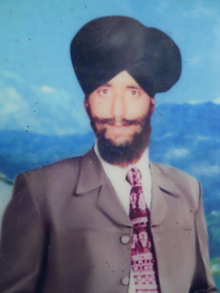 Photo of Ninder Singh, victim of extrajudicial execution between February 15, 1993 and March 15,  1993, in Bhikhiwind, by Punjab Police