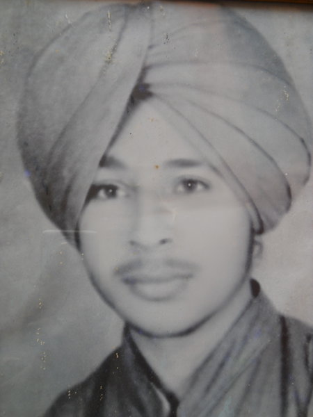 Photo of Gurbhej Singh, victim of extrajudicial execution on November 9, 1987, in Amritsar,  by Punjab Police; Central Reserve Police ForcePunjab Police