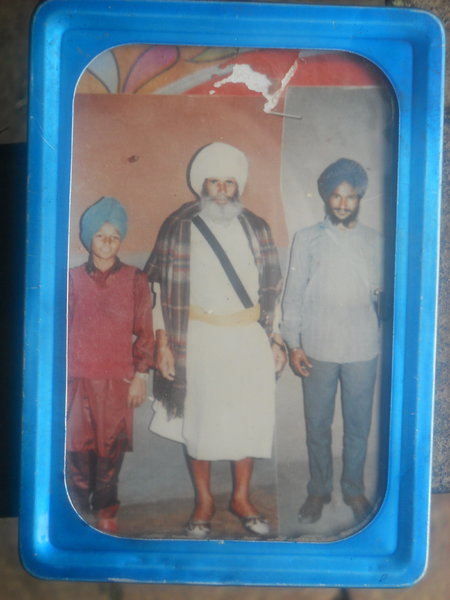 Photo of Harbans Singh, victim of extrajudicial execution, date unknown, in Zira, by Punjab Police