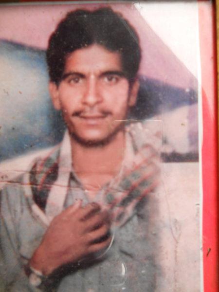 Photo of Gulshan Kumar, victim of extrajudicial execution on July 22, 1993, in Tarn Taran, by Punjab Police