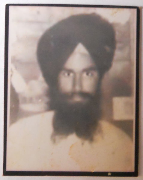 Photo of Pargat Singh, victim of extrajudicial execution on September 16, 1987, in Amritsar, by Punjab Police