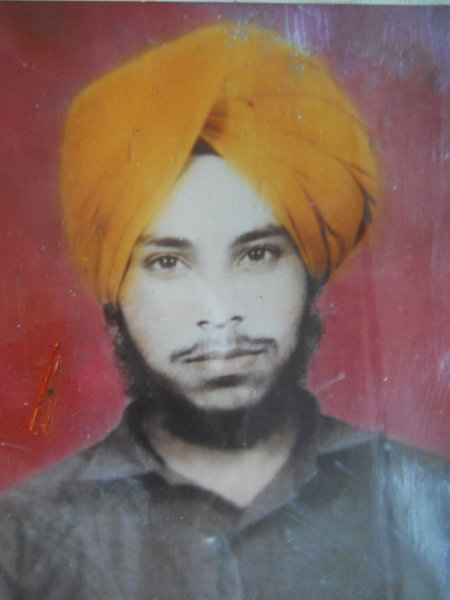 Photo of Udham Singh, victim of extrajudicial execution on December 13, 1992, in Tarn Taran, by Punjab Police