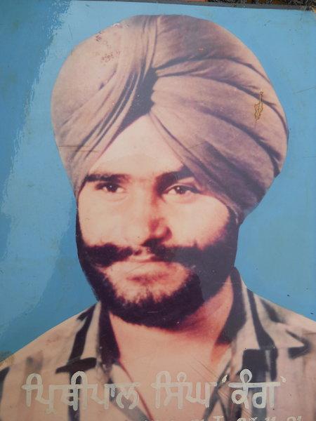 Photo of Prithipal Singh, victim of extrajudicial execution on November 27, 1991, in Tarn Taran, by Punjab Police