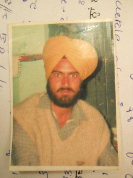 Photo of Rupinderjit Singh, victim of extrajudicial execution on July 06, 1992, in Hoshiarpur,  by Criminal Investigation Agency, in Verowal, Khadur Sahib, Tarn Taran, by Punjab Police