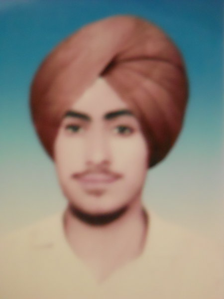 Photo of Jagdeep Singh, victim of extrajudicial execution on November 30, 1992, in Tarn Taran, by Punjab Police
