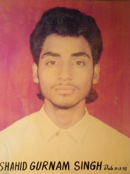Photo of Gurnam Singh, victim of extrajudicial execution on November 30, 1992, in Tarn Taran, by Punjab Police