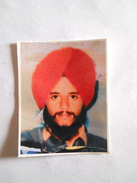 Photo of Kamaljit Singh, victim of extrajudicial execution on August 23, 1988, in Patti, by Punjab Police