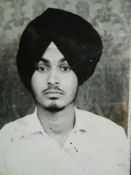 Photo of Jasbir Singh, victim of extrajudicial execution on January 13, 1992, in Tarn Taran, by Punjab Police