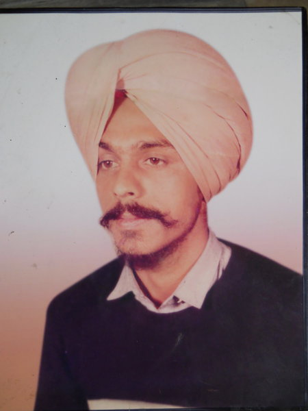 Photo of Nishan Singh, victim of extrajudicial execution between January 29, 1987 and January 30,  1987, in Amritsar, by Punjab Police