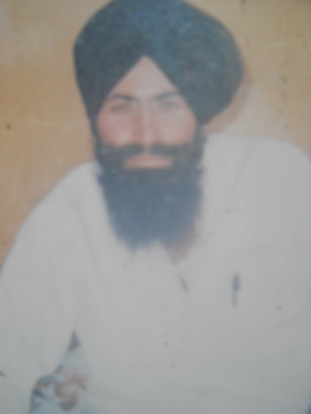 Photo of Balbir Singh, victim of extrajudicial execution between November 8, 1991 and December 11,  1991, in Sri Hargobindpur, by Punjab Police
