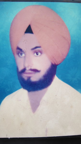 Photo of Gurmej Singh, victim of extrajudicial execution on May 24, 1989, in Amritsar, by Punjab Police