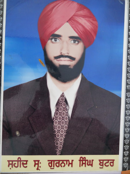 Photo of Gurnam Singh, victim of extrajudicial execution on February 09, 1991, in Bhikhiwind, by Punjab Police